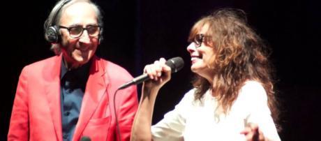 Franco Battiato ed Alice durante un concerto di qualche anno fa