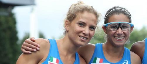 Anna Bongiorni ed Irene Siragusa, impegnate in batteria nei 100 metri agli Europei di Berlino