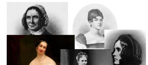 First Ladies with secrets, scandals and unpleasant personalities - Image collage -- Library of Congress and Wikimedia