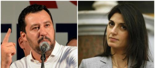 Questione rom: Virginia Raggi d'accordo con Matteo Salvini
