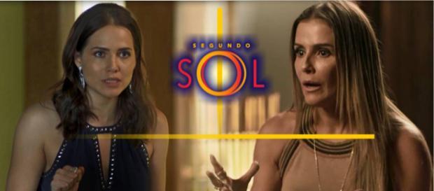 Clima esquenta entre Rosa e Karola na novela Segundo Sol