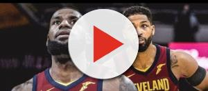 Former Cavs teammates LeBron James and Tristan Thompson raised eyebrows with a recent photo from Toronto. - [BSi News / YouTube screencap]