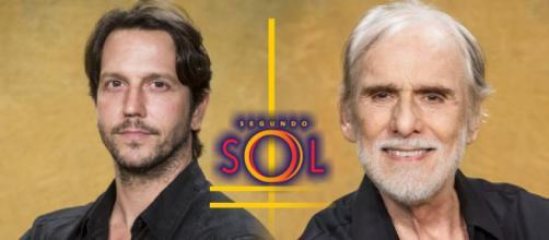 Remy e Nestor se dão muito bem na novela Segundo Sol