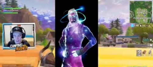 The Galaxy skin is believed to be not available in 'Fortnite's' Item Shop. [Image source: TheCampingRusher - Fortnite/YouTube]