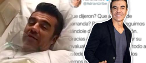 Adrián Uribe reaparece en redes, aunque sigue hospitalizado ... - univision.com