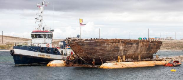 La nave Maud torna dopo 100 anni in Norvegia: partì per il Polo Nord