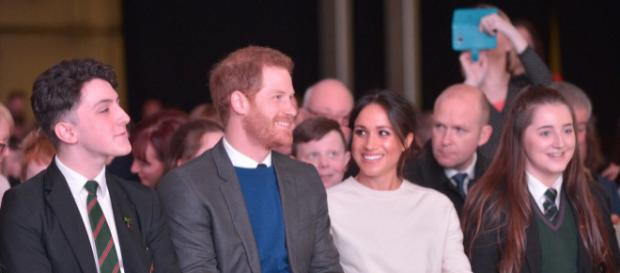 Prince Harry and Ms Markel at 'Amazing The Space' event. [Image courtesy – Northern Ireland Office, Wikimedia Commons]