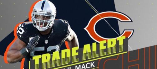 Khalil Mack llega a reforzar la defensiva de los Bears. NFL.com.
