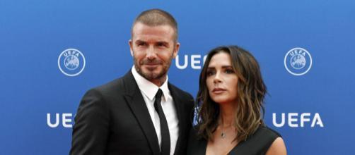 Victoria y David Beckham aparecen de sorpresa en el sorteo de UEFA