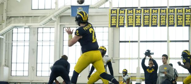 Shea Patterson is the new starting QB at Michigan. [Image Source: Michigan Athletics - YouTube]