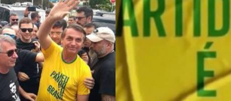 Jair Bolsonaro (PSL) em ato de campanha. (Imagem: Reprodução)