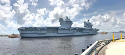 Six Royal Navy sailors were arrested in Florida while the HMS Queen Elizabeth was in port. [Image @PaceAnJax/Twitter]