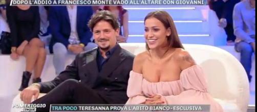 Teresanna Pugliese con il fidanzato Giovanni Gentile