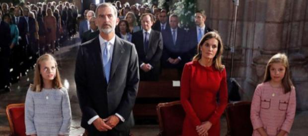 Los reyes Felipe VI y Letizia y sus hijas