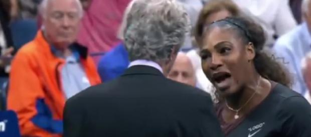 Shocking US Open final as Serena Williams loses, breaks her racket. [Image courtesy – ABC News, YouTube video]