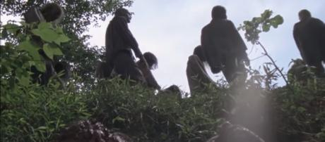 The Whisperers finally make their entrance on the show. [image credit: amc/YouTube screenshot]