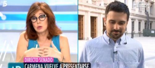 Ana Rosa Quintana y Ramón Espinar en imagen