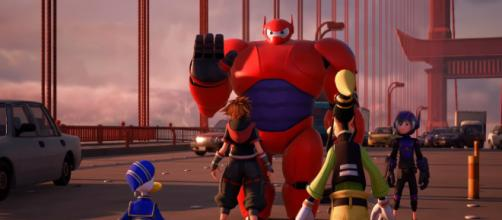 Sora and his friends meet the Big Hero 6 in the new 'Kingdom Hearts 3' trailer [Image Credit: Kingdom Hearts/YouTube screencap]