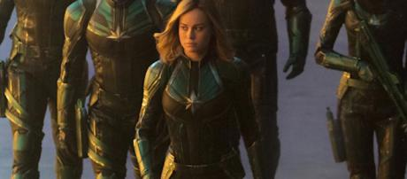 Carol Danvers joins the Kree army in 'Captain Marvel' film [Image Credit: Emergency Awesome/YouTube screencap]