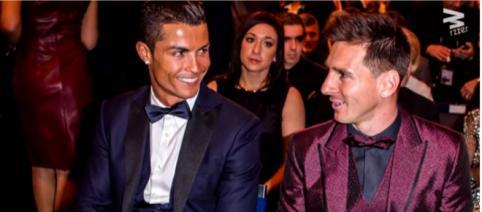 Cristiano e Messi [Imagem via YouTube]