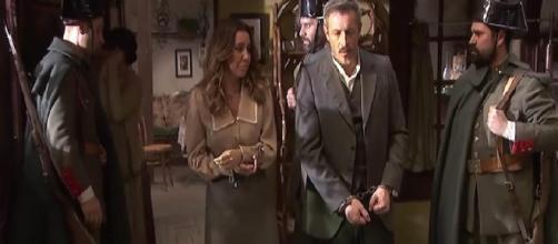 il segreto emilia e alfonso vengono arrestati