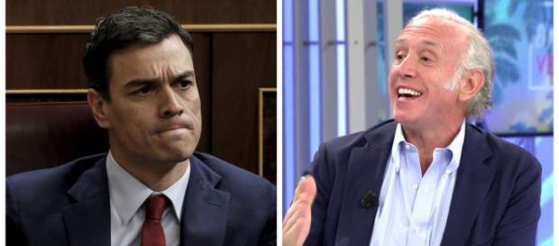 Pedro Sánchez y Eduardo Inda en imagen