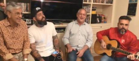 Ciro Gomes aparece ao lado de Caetano Veloso e Tico Santa Cruz