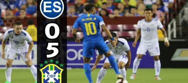 Brasil y El Salvador encuentro amistosa