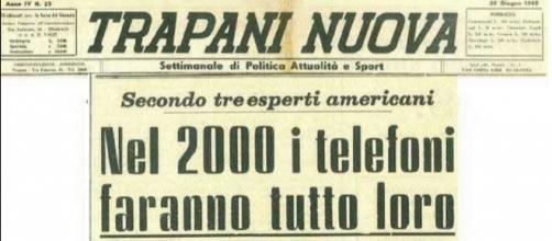 Il titolo dell'articolo comparso sull'edizione di Trapani Nuova del 26 giugno 1962
