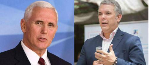 Iván Duque y Mike Pence acuerdan mantener presión sobre el gobierno venezolano