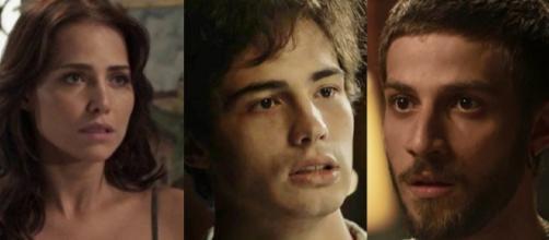 Rosa, Ícaro e Valentim em 'Segundo Sol'