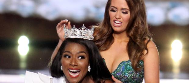 New Yorker Nia Franklin was crowned Miss America on Sunday. (Image via Time/Twitter)