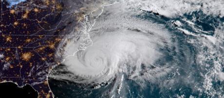 Immagine satellitare uragano Florence