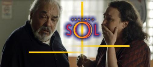 Agenor continua tentando prejudicar a esposa na novela Segundo Sol. (foto reprodução).