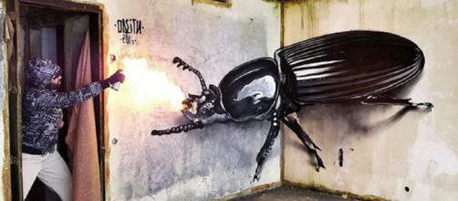 Arte de rua em 3D: a evolução da pichação.