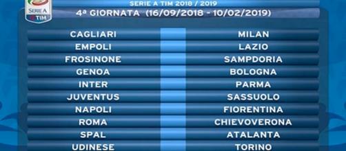 Serie A, calendario della quarta giornata con orari anticipi e posticipi