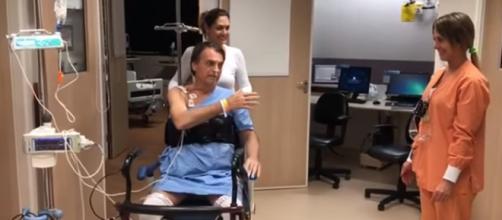 Vídeo mostra Bolsonaro se recuperando em São Paulo