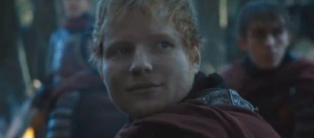 """Ed Sheeran en un fotograma de """"Juego de Tronos"""""""
