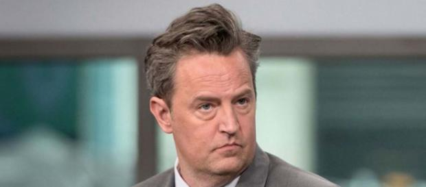 """Matthew Perry of """"Friends"""" fame has been in hospital for three months following bowel surgery. [Image @digitalspy/Twitter]"""