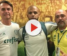 Felipe Melo agradece Bolsonaro por visita ao Palmeiras. (foto reprodução).
