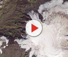 Il vulcano Katla e il vicino Eyjafjallajökull sotto il ghiacciaio