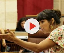 Teresa Rodríguez, el pasado jueves, durante la sesión de control en el Parlamento andauz. / Parlamento de Andalucía