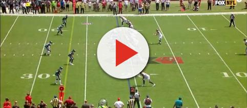 Ryan Fitzpatrick and the Buccaneers take on the Eagles. [Image Source: NFL - YouTube]