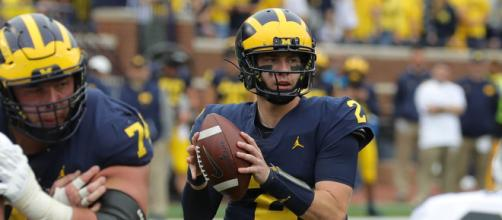 Michigan quarterback Shea Patterson has improved each week for the Wolverines. - [USA Today Sports / YouTube screencap]