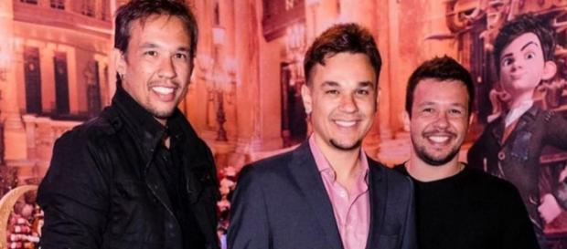 Kiko, Leandro e Bruno perderam o pai. (foto reprodução).