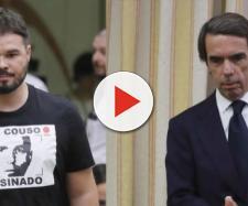 Rufián y Aznar en el Congreso de los