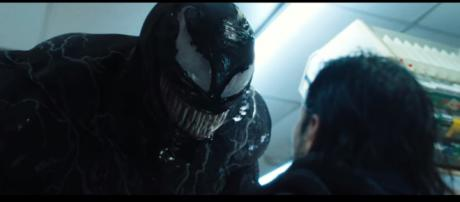 'Venom's' PG-13 rating could produce a crossover with Spider-Man [Image Credit: Sony Pictures Entertainment/YouTube screencap]
