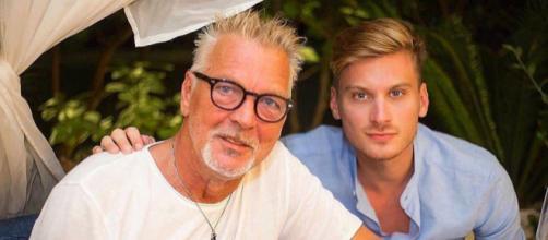 Andrea Tacconi con papà Stefano, ex portiere della Juventus