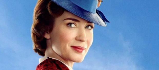 "Emily Blunt is the magical nanny in ""Mary Poppins Returns."" [Image @ComicBookNOW/Twitter]"