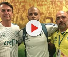 Felipe Melo demonstra apoio a Bolsonaro e causa polêmica. (foto reprodução).